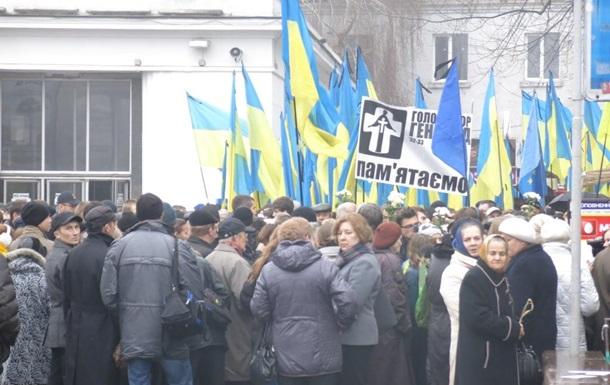 В Киеве началось траурное шествие в память о жертвах Голодомора