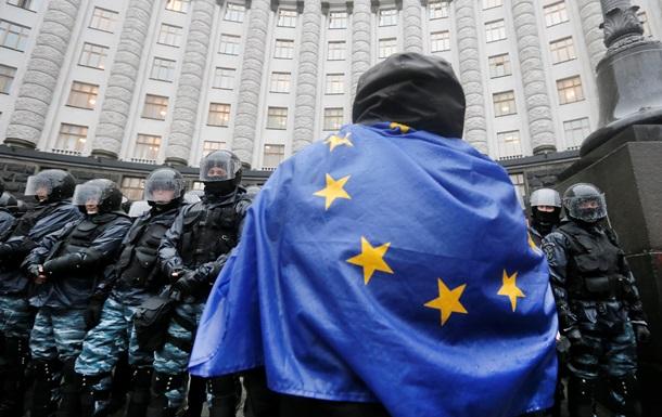 Евромайдан под Кабмином: фото протестов 25 ноября