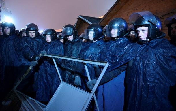 В милиции объяснили большое количество Беркута в центре Киева сообщением о взрывчатке