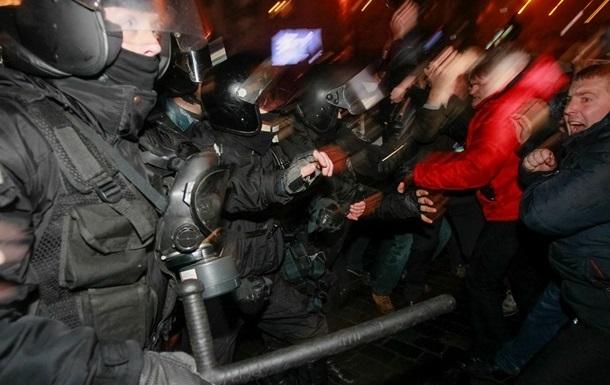В Свободе заявляют о задержании двух активистов в ходе акции на Европейской площади
