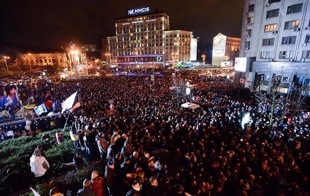 Оппозиция решила бросить партийную символику и объединиться с митингующими на Майдане Незалежности