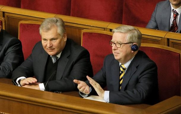 Окос - Квасьневский - миссия - Европарламент - Кокс и Квасьневский не против продления работы миссии ЕП в Украине