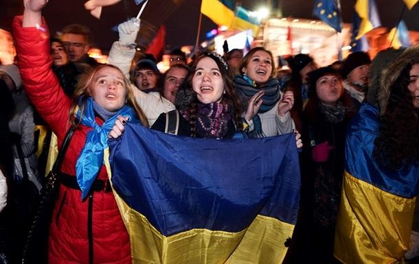 Евромайдан - живая цепь - Украина - ЕС - Сегодня активисты Евромайданов попытаются связать живой цепью Украину и Евросоюз