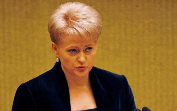 Давление России не оправдывает действия украинских властей - президент Литвы