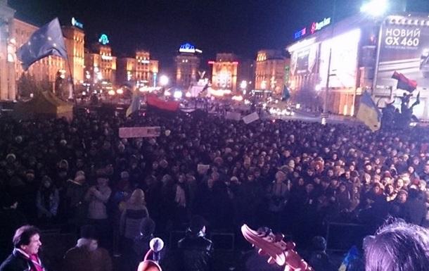 МИД Украины выразил обеспокоенность силовым противостоянием на Майдане Независимости в Киеве