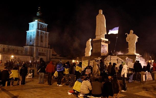 На Михайловскую площадь прибывают львовяне