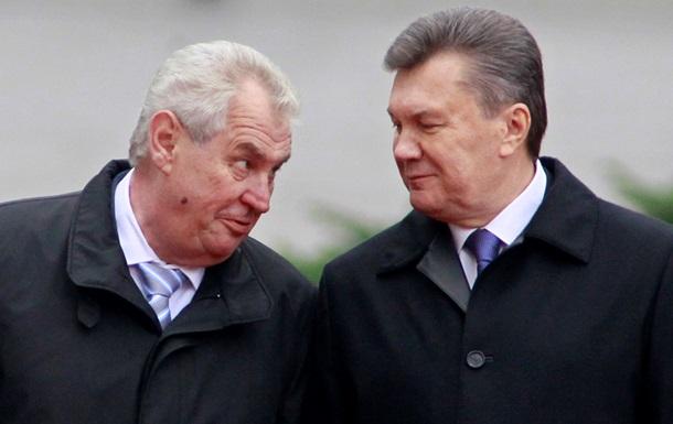 Президент Чехии надеется, что Украина подпишет Соглашение об ассоциации в Праге