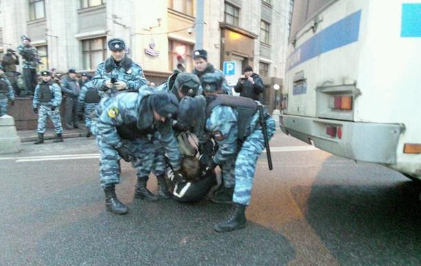 Полиция РФ задержала пикетчиков, требующих амнистирования фигурантов болотного дела