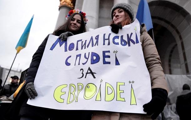 Студенты Киево-Могилянской академии обустраивают кампус на Евромайдане