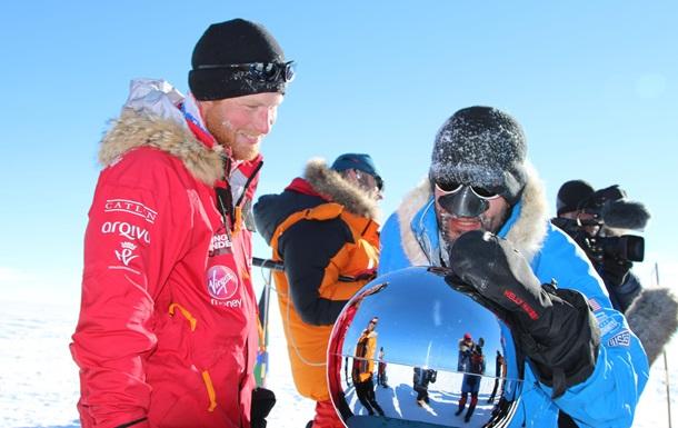 Принц Гарри вместе с ветеранами Афганистана добрался до Южного полюса