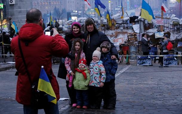 В Киеве иностранным туристам предлагают экскурсии по Евромайдану