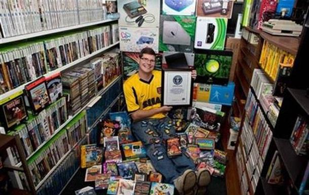 Владелец 11 тысяч видеоигр попал в Книгу рекордов Гиннесса