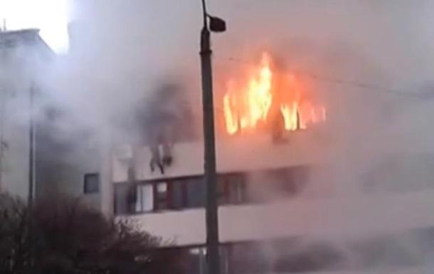 Пожар в Харькове - Хартрон - видео