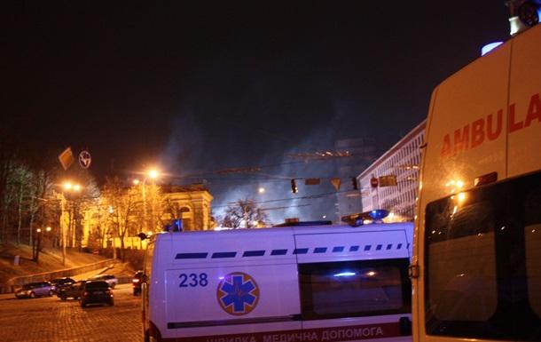 Против митингующих на улице Грушевского снова применили слезоточивый газ