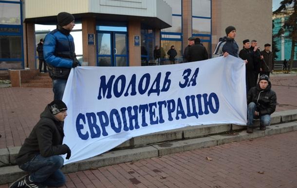 На білоцерківський Євромайдан зігнали бюджетників та студентів-аграрників