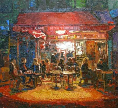 Art-studio Творча кухня, Андрей Кулагин - мастер-класс на передачу света в масле