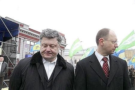 Яценюк і Порошенко конкурують за крісло прем'єра перед Кличком