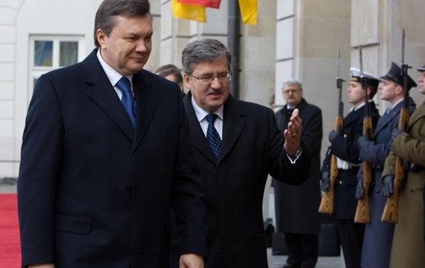 Польский президент напомнил Януковичу, что за кровопролитие всегда отвечает власть