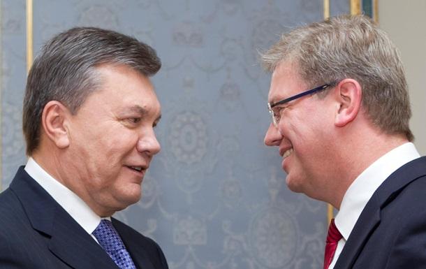 Янукович встретился с еврокомиссаром Фюле