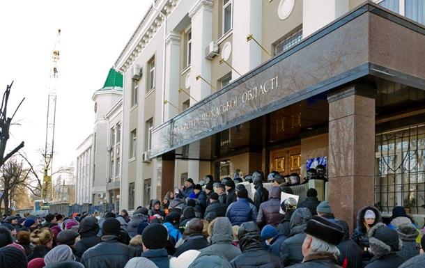 В Черкассах на митинге у милиционера отобрали оружие - МВД