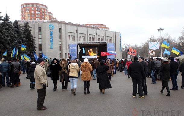 В Одессе началась бессрочная акция протеста против Евромайдана