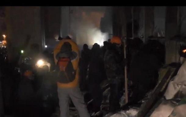 В милицию бросили боевую гранату во время штурма Украинского дома