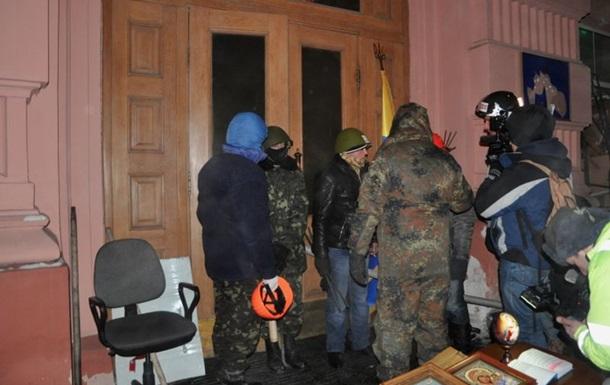 Захват Минюста. Милиция открыла уголовное производство, Лукаш грозит обсуждением режима ЧП