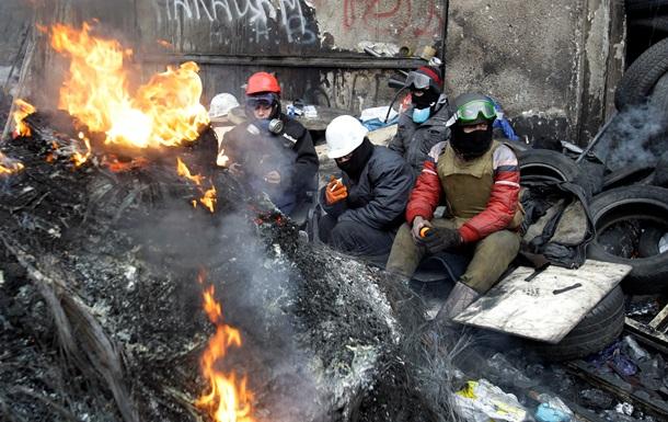 Сильный мороз не повлиял на жизнедеятельность Майдана