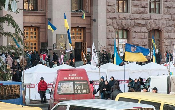 Коммунальные службы просят митингующих разблокировать КГГА во избежание коллапса