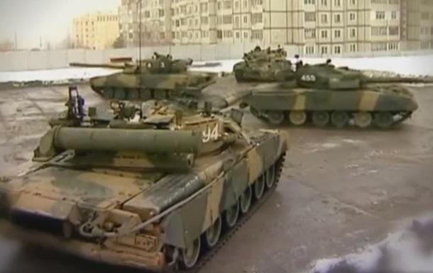 Российские военные провели репетицию  танкового балета