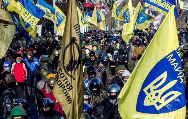 У Рады протестующие прорвали милицейский кордон и оттеснили бойцов внутренних войск