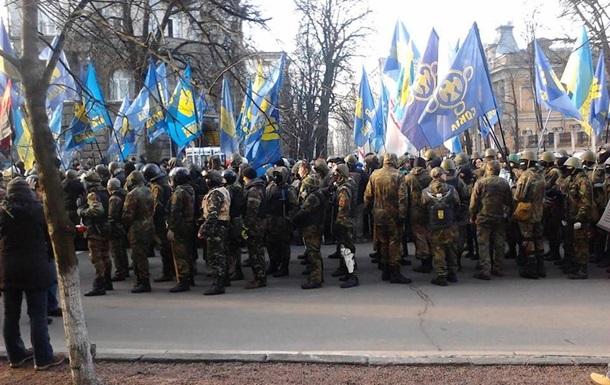 В Мариинском парке выстроились около 2 тысяч активистов Самообороны