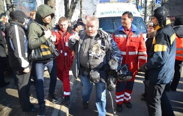 В результате столкновений в Киеве пострадал 21 журналист