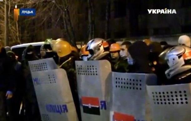 В Луцке внутренние войска перешли на сторону протестующих
