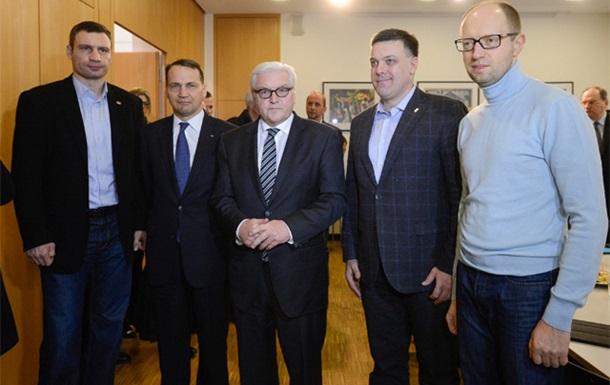 Главы МИД Польши и Германии покинули Украину