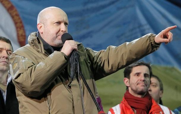 Временный президент. Пламенное выступление Турчинова на Майдане 26 февраля