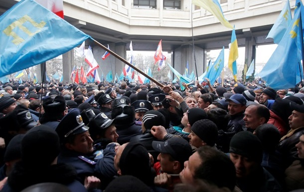 В захвате парламента Крыма участвовал Беркут  -  Москаль