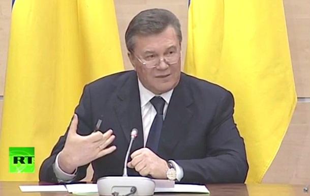 Янукович: Жертвы в Украине – результат политики Запада