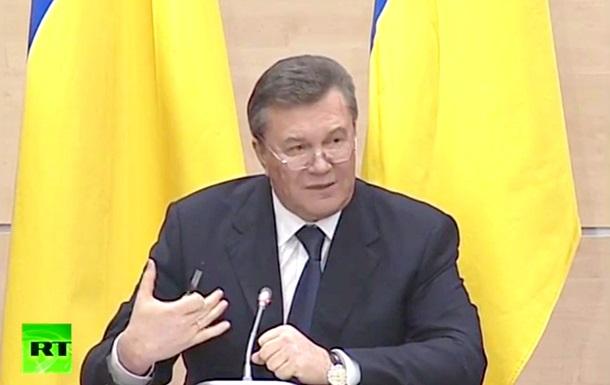 Янукович: за военной помощью я обращаться не буду, военные действия недопустимы