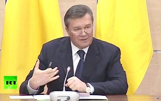 Янукович не признает принятые Радой законы и считает себя действующим президентом