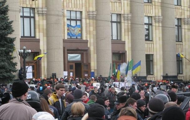 Милиция открыла уголовное производство по факту штурма Харьковской ОГА