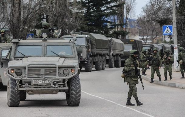 Самооборона Крыма окружила воинскую часть в Бахчисарае