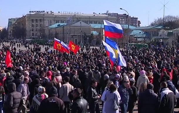 В Харькове прошли митинги за федерализацию и за единство Украины