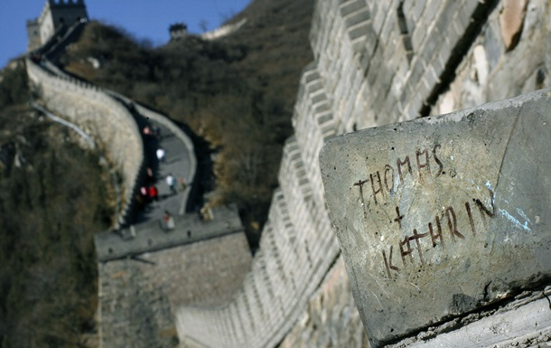Туристам разрешили рисовать на Великой Китайской стене