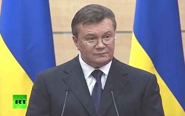 Янукович: Я остаюсь легитимным президентом и главнокомандующим армии Украины