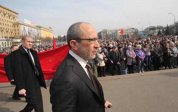 В Кернеса бросили бутылку с зеленкой: в Харькове пророссийские активисты «репетируют» митинг 16 марта