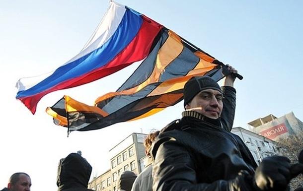 В Донецке начался митинг в поддержку референдума в Крыму и присоединения восточной Украины к России