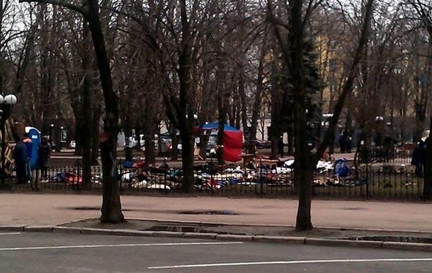 В Луганске свернули палатки пророссийской   гвардии