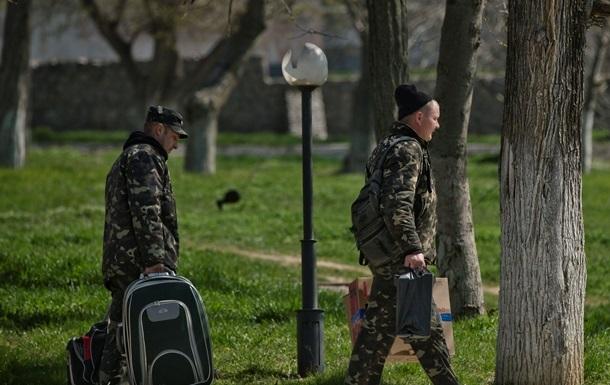 Украинские десантники возвращаются из Крыма к постоянному месту дислокации