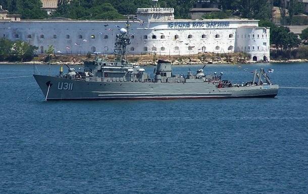 Минобороны не будет затапливать украинские военные корабли в Севастополе